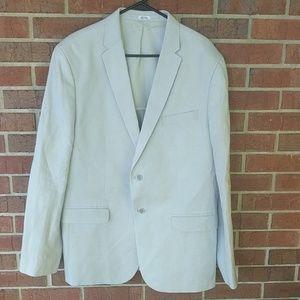 Calvin Klein light blue linen sport coat size XL